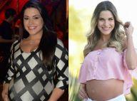Grávida de 7 meses, Thais Fersoza avalia corpo e Andressa Suita elogia: 'Linda'
