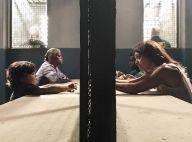 Juliana Paes brinca com filho Antonio nos bastidores de novela:'Meu presidiário'