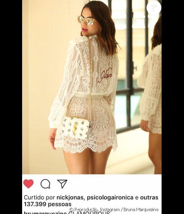Nick Jonas curte fotos de Bruna Marquezine no perfil do Instagram da atriz