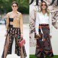 Para o desfile de outono-inverno 2017 da  Dior, em comemoração aos 70 anos da marca,  Camila Coelho optou por um visual romântico fashion e Helena Bordon apostou no estilo boho chic, em 3 de julho de 2017