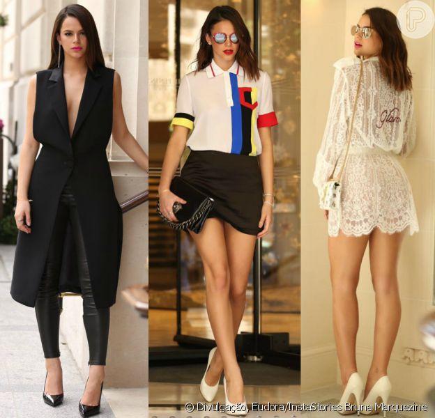 Veja detalhes das produções usadas por Bruna Marquezine na semana de moda de alta-costura de Paris!