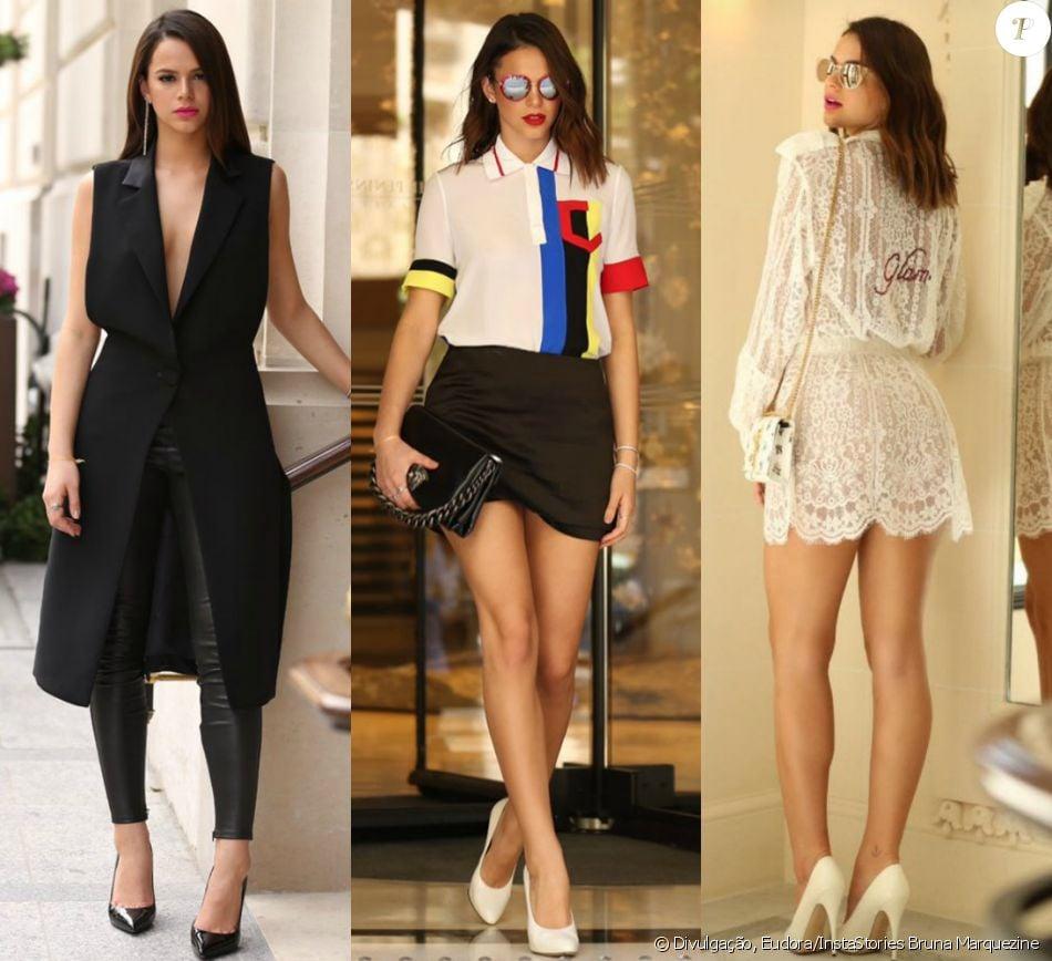 7599356a7 Veja detalhes das produções usadas por Bruna Marquezine na semana de moda  de alta-costura