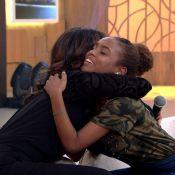 Fátima Bernardes chora ao rever menina que entrevistou em tragédia: 'Está linda'