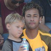 Neymar aproveita últimos dias de férias com o filho, David Lucca, em SP. Fotos!