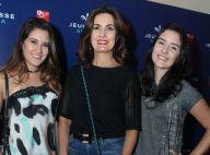 Beatriz e Laura, filhas de Bonner, dançam jazz ao lado da mãe, Fátima Bernardes