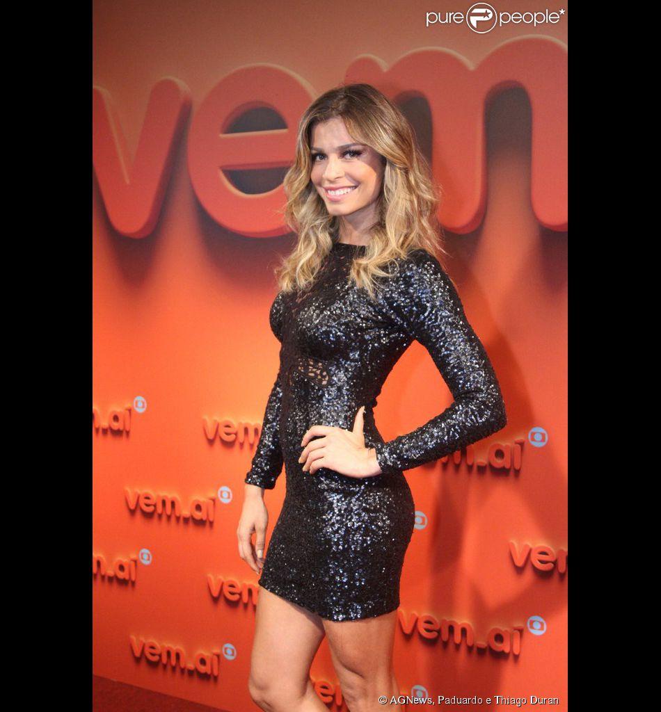 Grazi Massafera diz que ter ter mais filhos. A atriz participou da festa 'Vem aí', da TV Globo, em 2 de abril de 2014