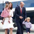 A Família Real desembarcou em Varsóvia, na Polônia, nesta segunda-feira, em 17 de julho de 2017