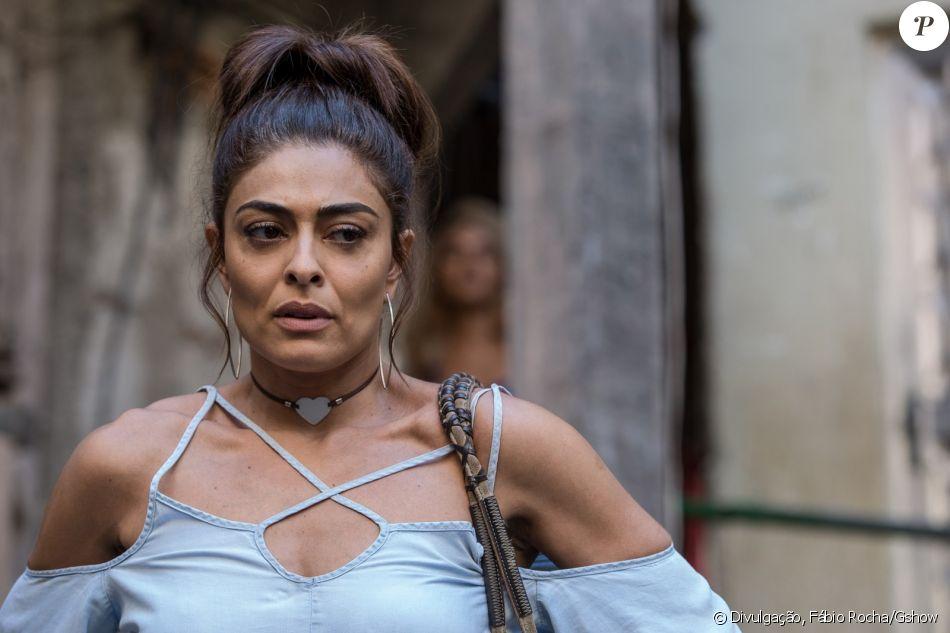 Bibi (Juliana Paes) mente para policiais ao ser flagrada com dinheiro do tráfico, na novela 'A Força do Querer': 'Vendi uma moto!'