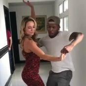 Paolla Oliveira dança com Nego do Borel em bastidor de novela: 'Aprontou'