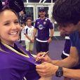 Larissa Manoela em sua passagem pela Disney tietou ainda Kaká