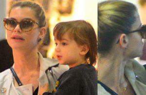 Filho de Alinne Moraes, Pedro exibe semelhança com a mãe em aeroporto. Fotos!