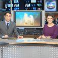 Evaristo Costa comanda o 'Jornal Hoje' ao lado de Sandra Annenberg