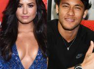 Demi Lovato festeja gol de Neymar em jogo após ganhar elogio do jogador. Vídeo!