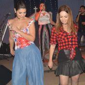 Ex-BBB Vivian Amorim dança com Solange Almeida em arraial no Ceará. Fotos!