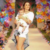 Rocco, filho de Rafa Brites, estreia na passarela em desfile infantil. Fotos!