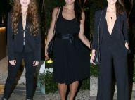 Famosas optam por decote e looks pretos em evento da novela 'Belaventura'. Fotos