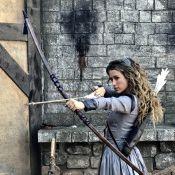 Juliana Didone teve aulas de arco e flecha para novela: 'Guerreira do amor'