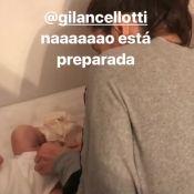 Giovanna Lancellotti tenta trocar a filha de Bruno Gissoni e é zoada: 'Deu ruim'
