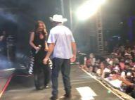 Paula Fernandes dança 'Meu Dengo' com fã em show: 'Vovô animado'. Vídeo!