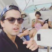 Rodrigo Simas e Bruno Gissoni dançam e cantam funk em passeio de barco no Rio