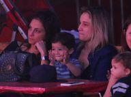 Fernanda Gentil vai ao circo com a namorada, Priscila Montandon, e os filhos
