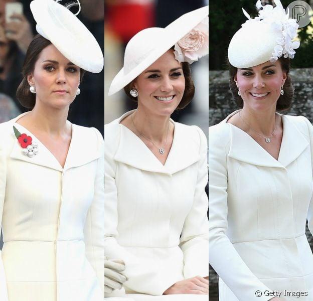 Alexander McQueen em dose tripla: Kate Middleton usou peça da grife inglesa em três ocasiões diferentes. Confira!