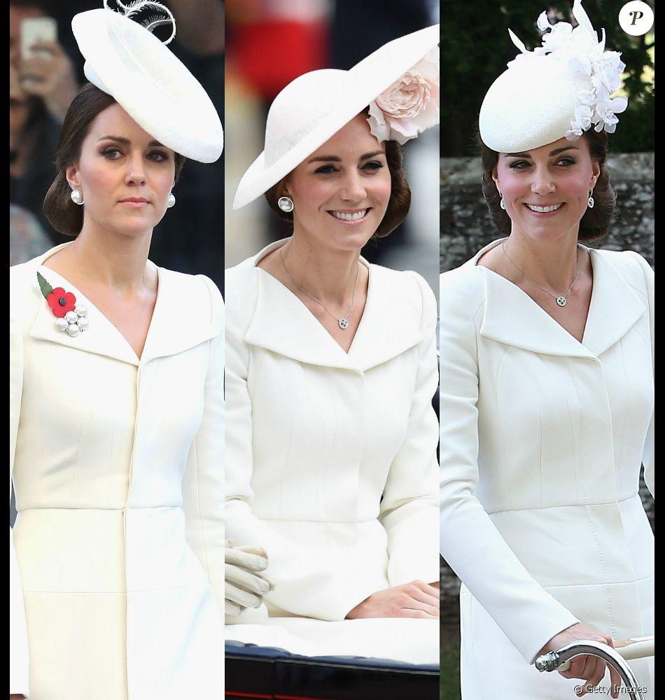 50a95564f33cb Alexander McQueen em dose tripla  Kate Middleton usou peça da grife inglesa  em três ocasiões