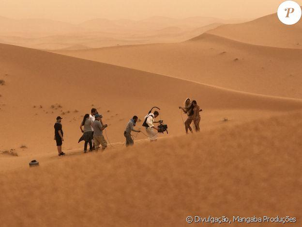 Anitta e Pabllo Vittar filmaram no deserto do Saara, no Marrocos, com temperatura de 47º e sensação térmica de 53º