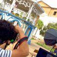 Ticiane Pinheiro posa para fotos nas ruas de Goiás Velho, em Goiânia
