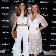 Giovanna Ewbank voltou a apostar na tendência das botas brancas com um modelo Le Lis Blanc no lançamento da coleção primavera/verão 2018 da Colcci e da edição de agosto da revista 'Vogue', em São Paulo, em 1° de agosto de 2017