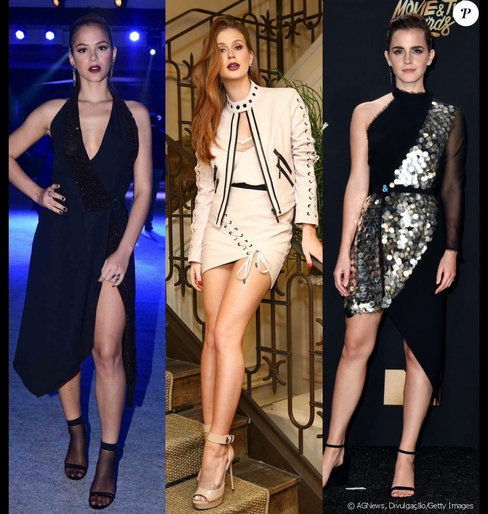 e07204dd4564d Bruna Marquezine, Marina Ruy Barbosa e Emma Watson já apostaram na  tendência das peças assimétricas