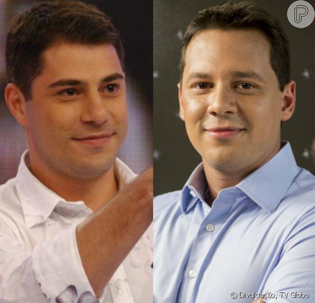 Evaristo Costa e Dony de Nuccio trocam elogios na internet após jantarem juntos