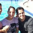 Thyane Dantas, mulher de Wesley Safadão, também foi batizada no retiro