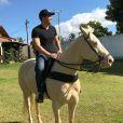 Wesley Safadão ganhou um cavalo de um amigo durante o retiro espiritual