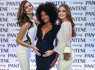 Marina Ruy Barbosa e Camila Queiroz tietam barriga de Sheron Menezzes em evento