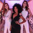 Enquanto Marina Ruy Barbosa e Camila Queiroz apostaram em looks brancos, Sheron Menezzes, grávida de 7 meses, caprichou com um vestido preto com decote recortado para a inauguração da Casa Pantene, em São Paulo, nesta quarta-feira, 9 de agosto de 2017
