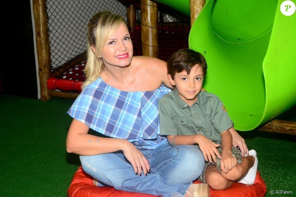 Filho de Eliana esbanja alegria e rouba a cena no próprio aniversário