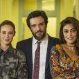 Bibi (Juliana Paes) descobre que Caio (rodrigo Lombardi) e Jeiza (Paolla Oliveira) estão namorando, na novela 'A Força do Querer', em 7 de setembro de 2017