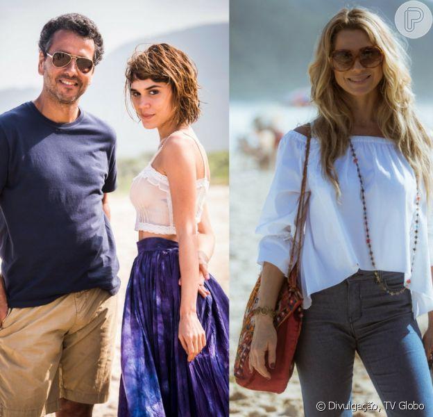 Na série 'Os Dias Eram Assim', Toni (Marcos Palmeira), Maria (Carla Salle) e Monique (Letícia Spiller) têm noite de sexo a três