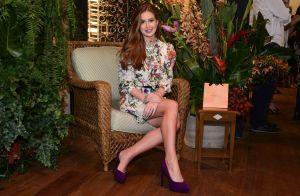 Marina Ruy Barbosa ensina a valorizar cabelo ruivo em look: 'Misturo estampas'
