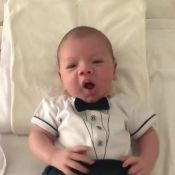 Filho de Andressa Suita esbanja fofura ao usar gravata borboleta: 'Pinguinzinho'