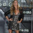 Gisele Bündchen deixou as pernas à mostra no evento