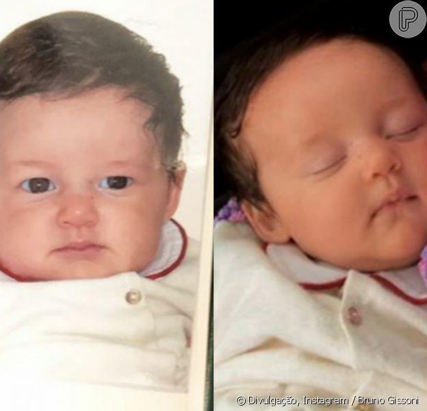 Bruno Gissoni indicou semelhança com a filha, Madalena, nesta sexta-feira, 18 de agosto de 2017
