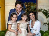 Natália Guimarães e Leandro, ex-KLB, festejam aniversário das gêmeas. Fotos!