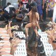 Anitta gravou seu novo clipe, 'Vai, Malandra', no Morro do Vidigal, neste domingo, 20 de agosto de 2017