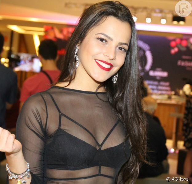Emilly Araújo compareceu ao evento 'Melhor Prato', no Rio de Janeiro e revelou sua paixão pela culinária gaúcha