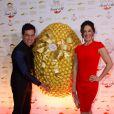 Claudia Raia com o também ator Carlos Casagrande no evento de Páscoa da Ferrero Rocher