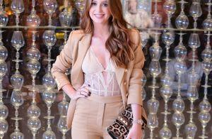 Marina Ruy Barbosa usa look com body de renda e transparência à mostra. Fotos!