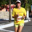 Ana Paula Araújo correu no circuito Fun and Run, em Niterói, em fevereiro