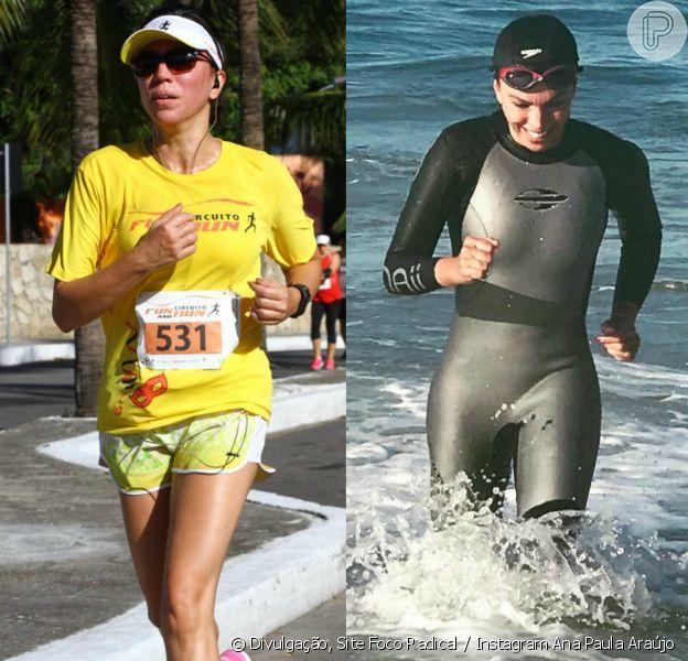 Ana Paula Araújo é adepto do triatlo aos 45 anos: 'Corro, nado, pedalo e faço funcional'